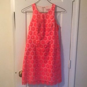 Size 2 Lilly Pulitzer pearl dress in fiesta pink